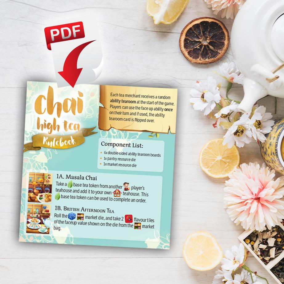 Chai: High Tea Expansion Rulebook PDF Download
